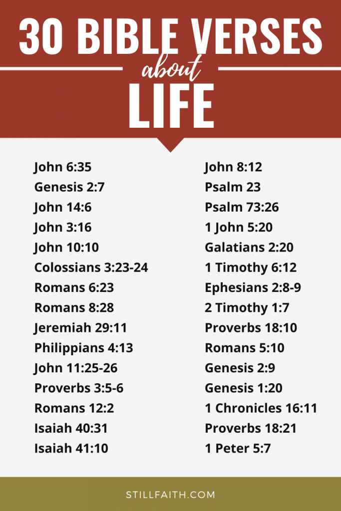 93 Bible Verses about Life