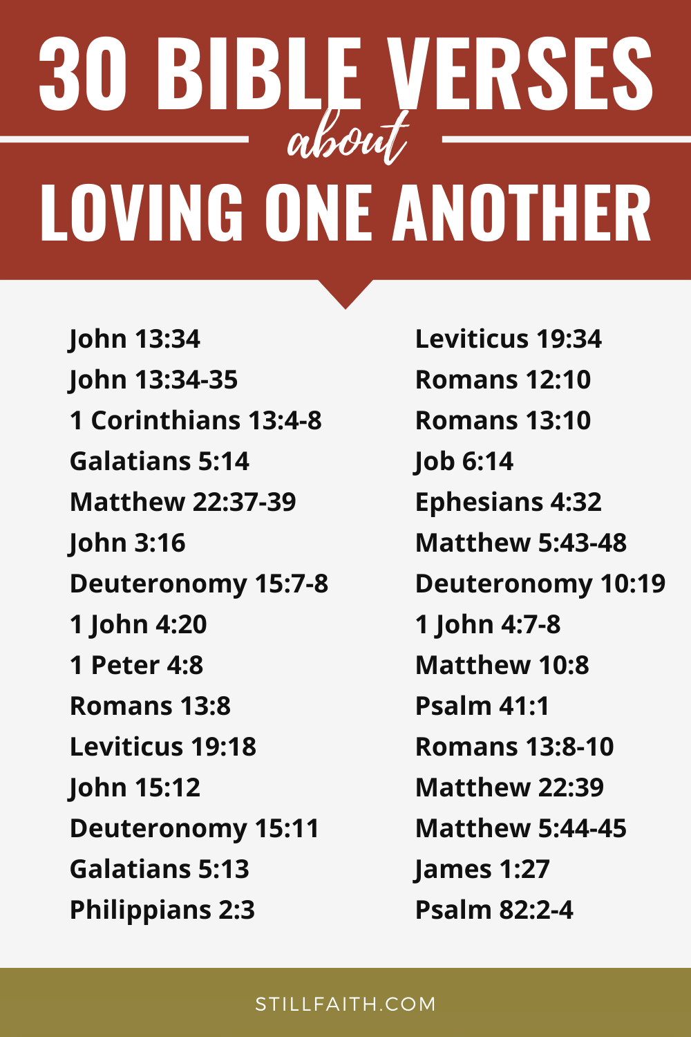 198 Bible Verses about Loving One Another
