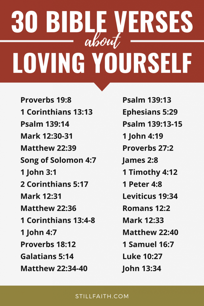 138 Bible Verses about Loving Yourself