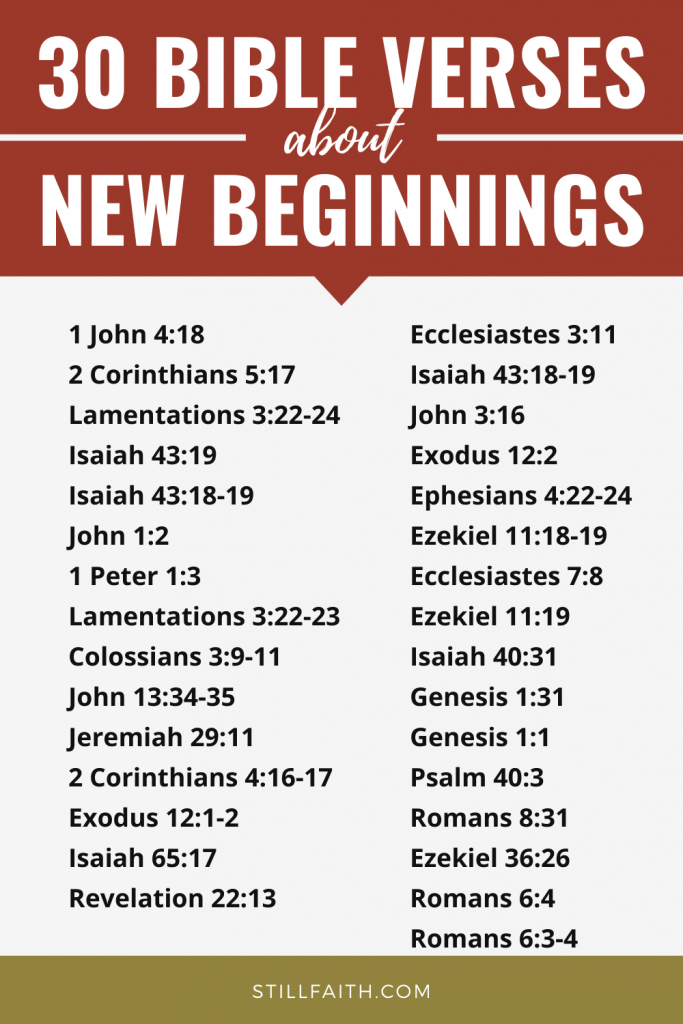 154 Bible Verses about New Beginnings