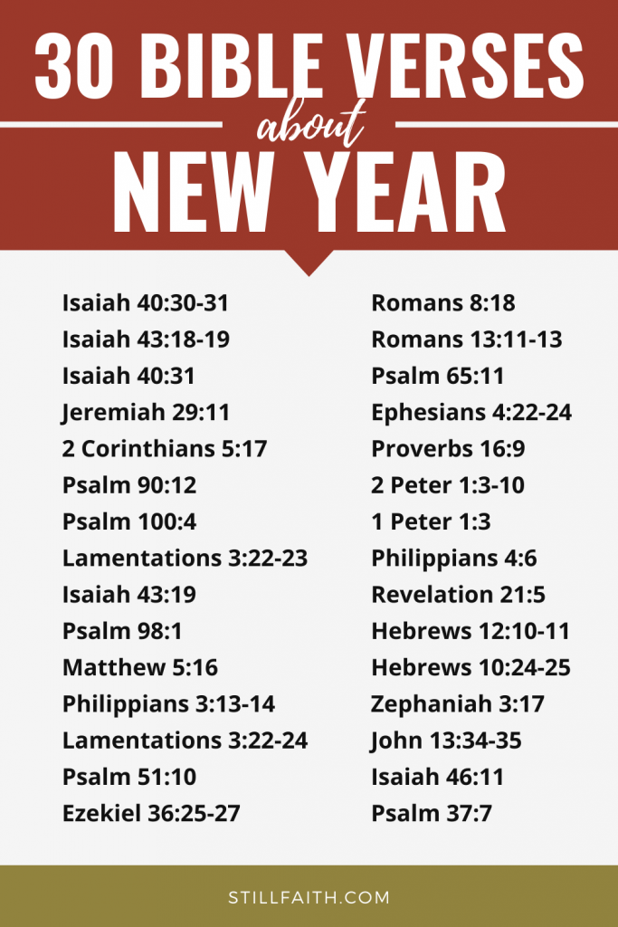 136 Bible Verses about New Year