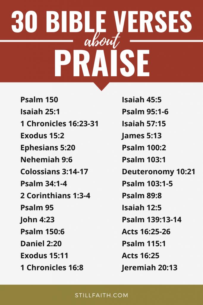 334 Bible Verses about Praise