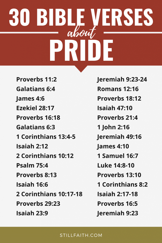 153 Bible Verses about Pride