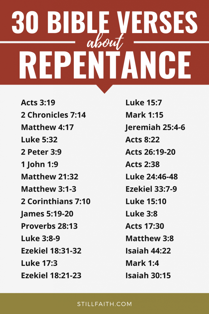 147 Bible Verses about Repentance