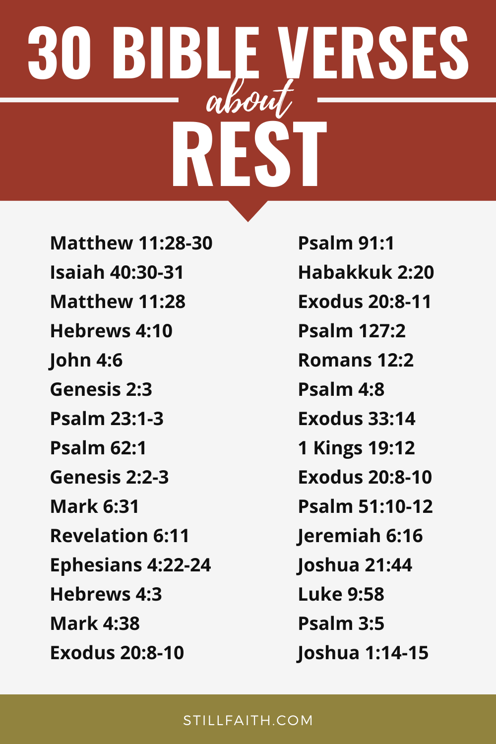 206 Bible Verses about Rest