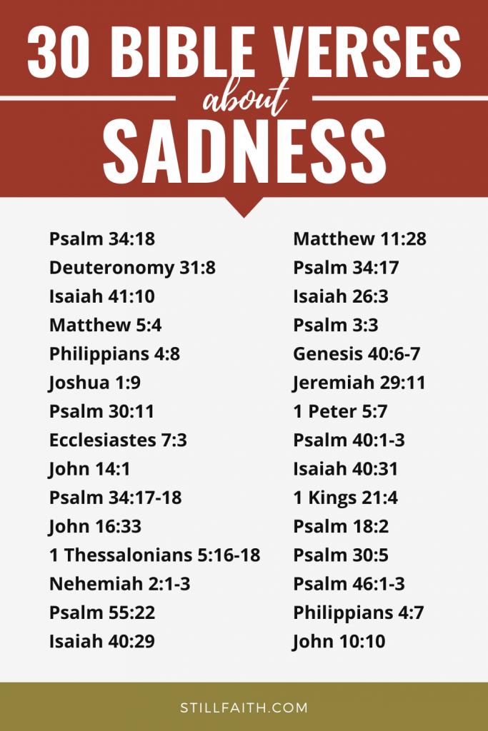 154 Bible Verses about Sadness