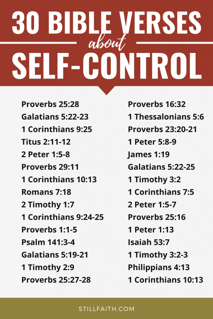 174 Bible Verses about Self-Control