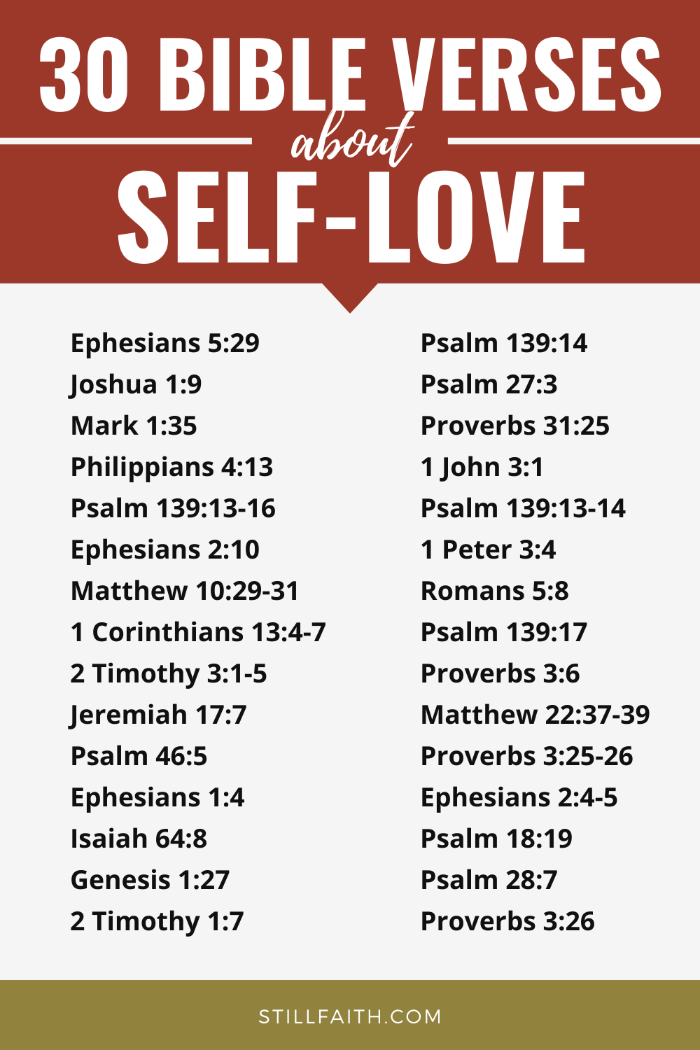 171 Bible Verses about Self-Love