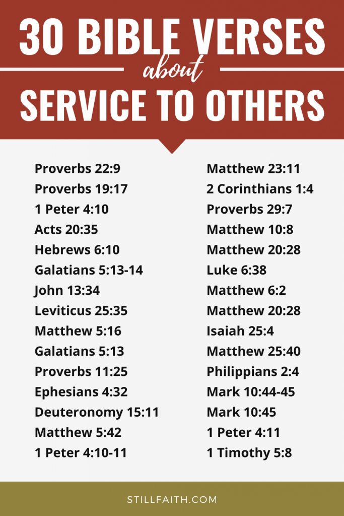 166 Bible Verses about Service to Others