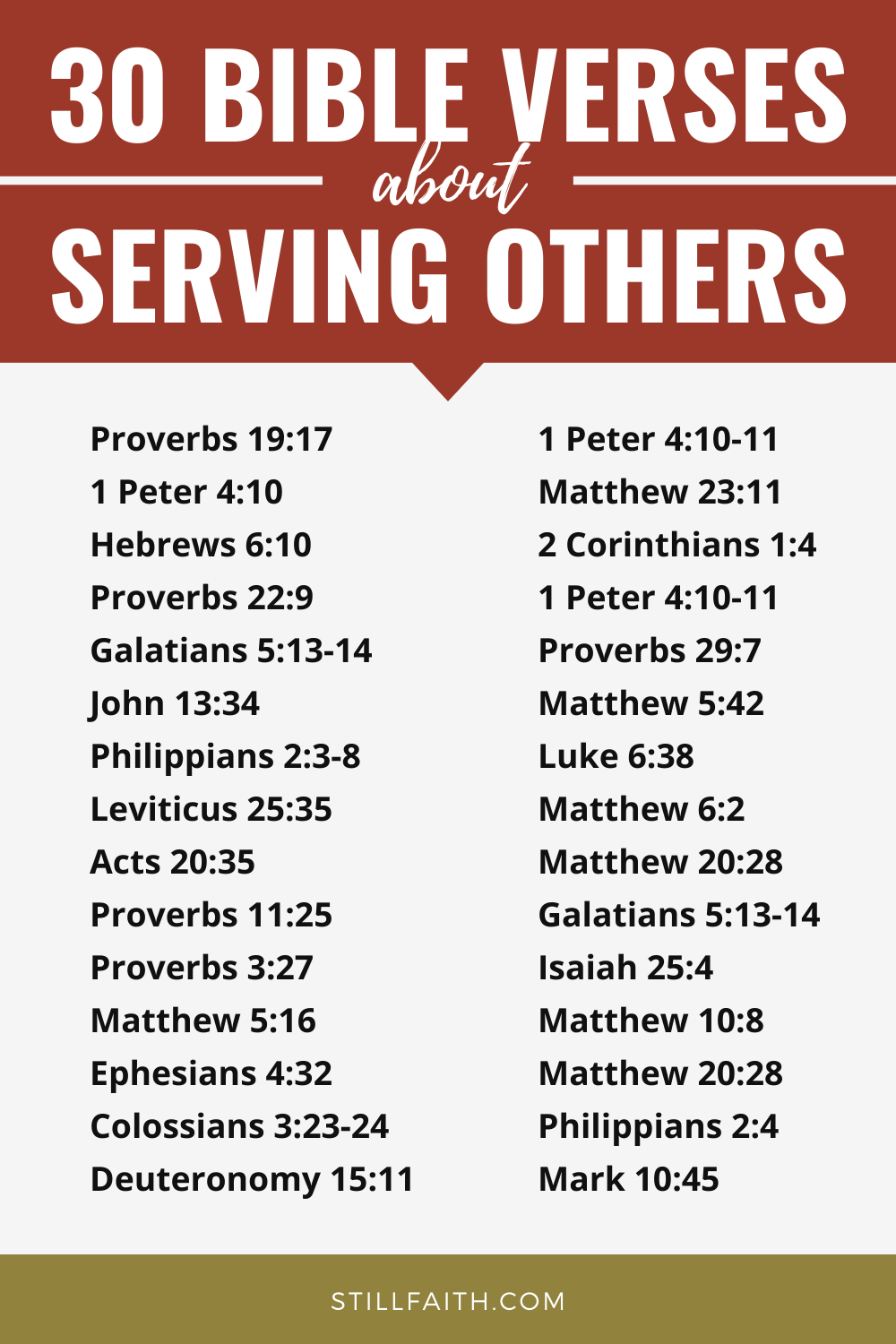 168 Bible Verses about Serving Others