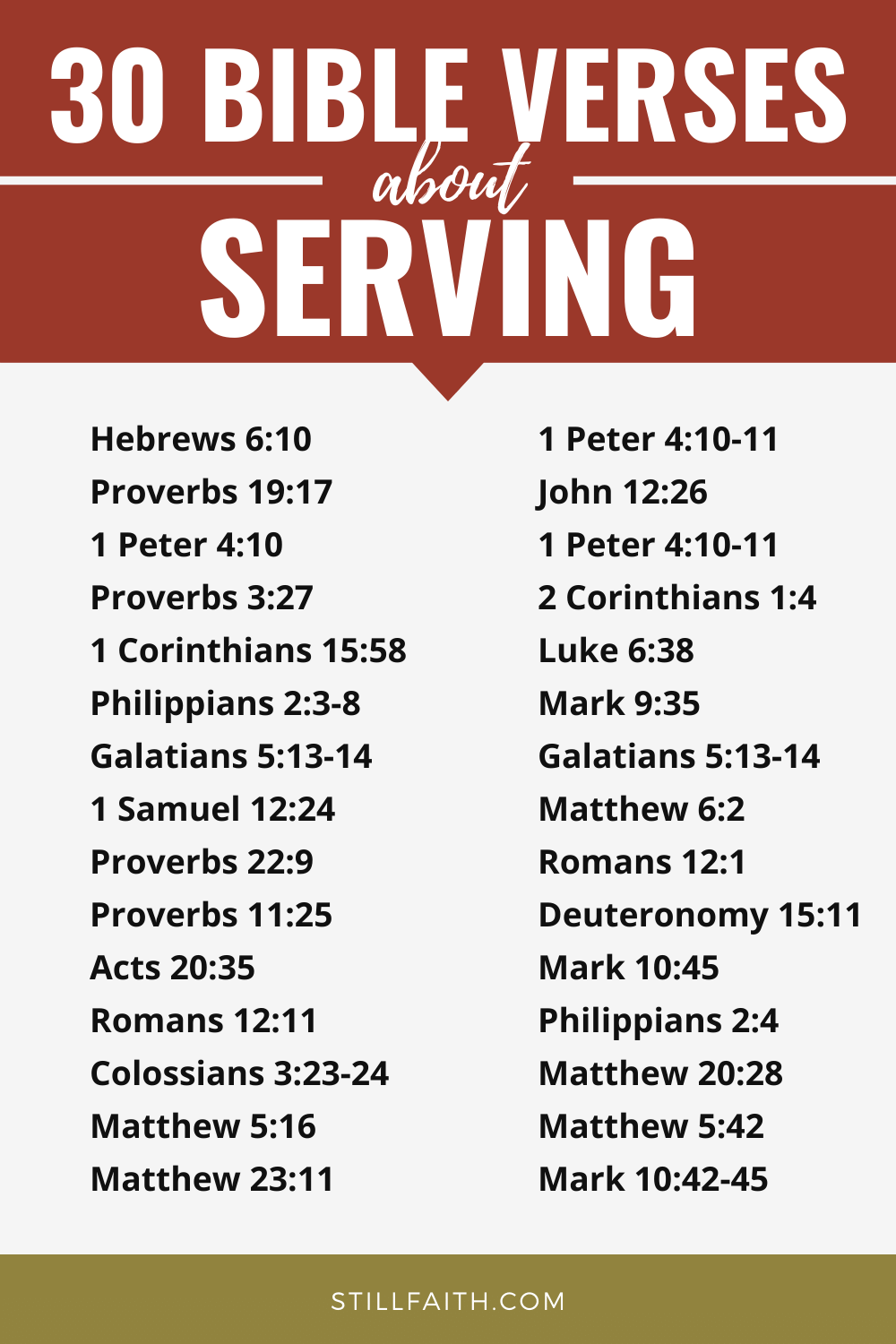 159 Bible Verses about Serving
