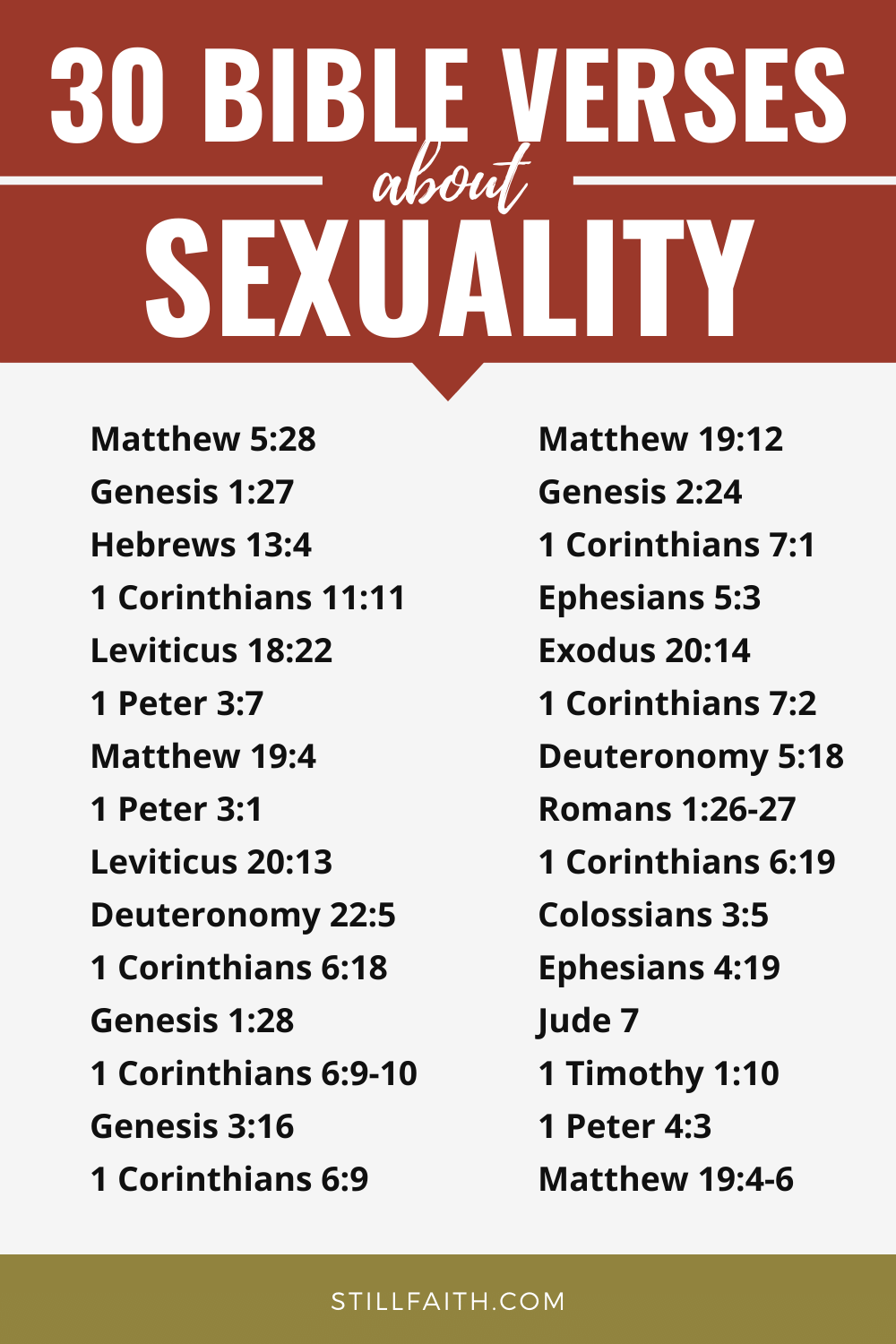 102 Bible Verses about Sexuality