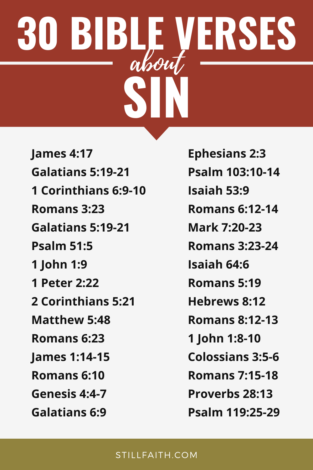 293 Bible Verses about Sin