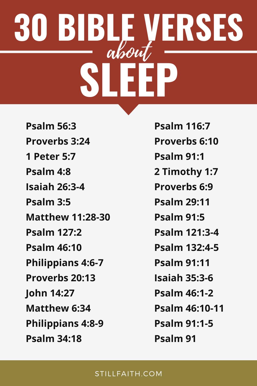 108 Bible Verses about Sleep