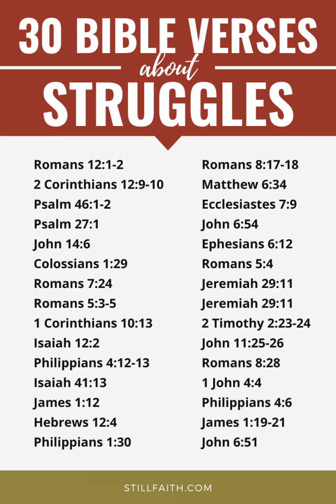 177 Bible Verses about Struggles