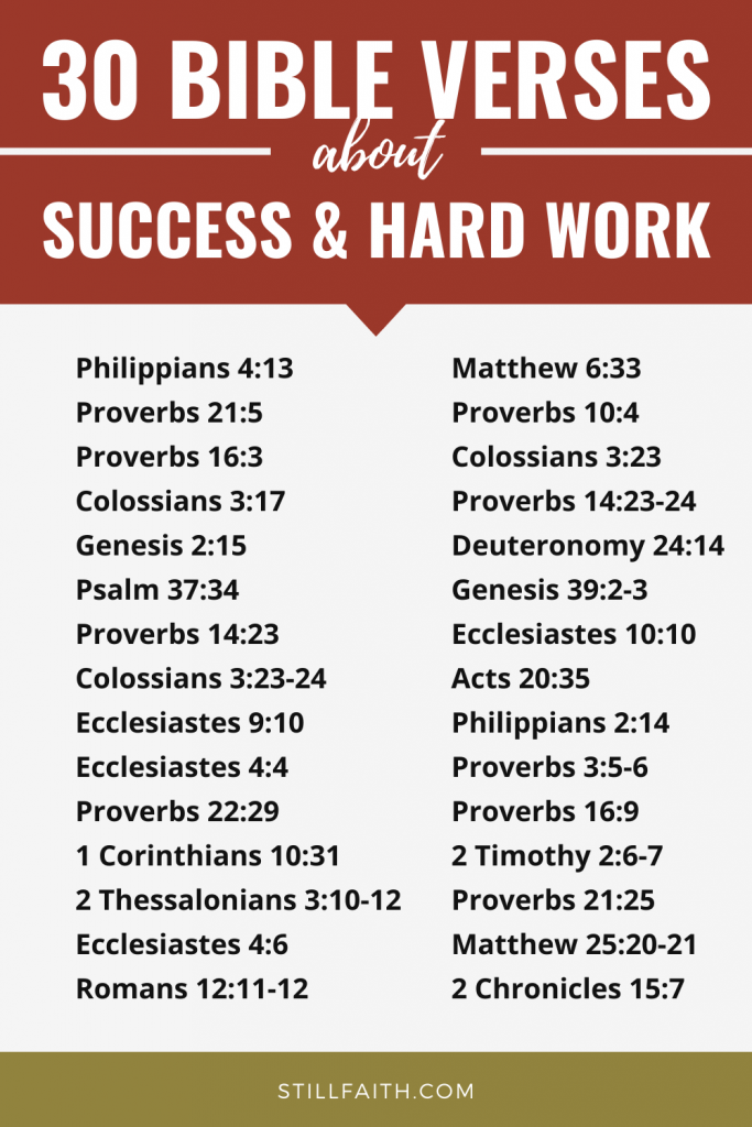 157 Bible Verses about Success and Hard Work