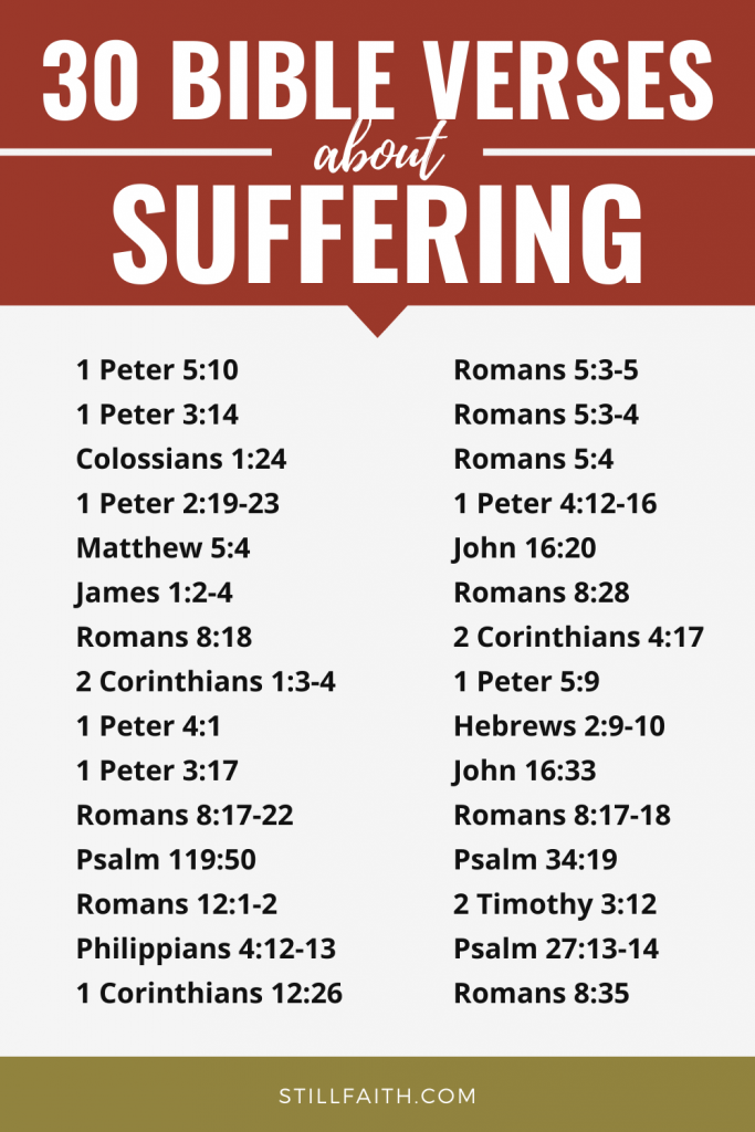 180 Bible Verses about Suffering