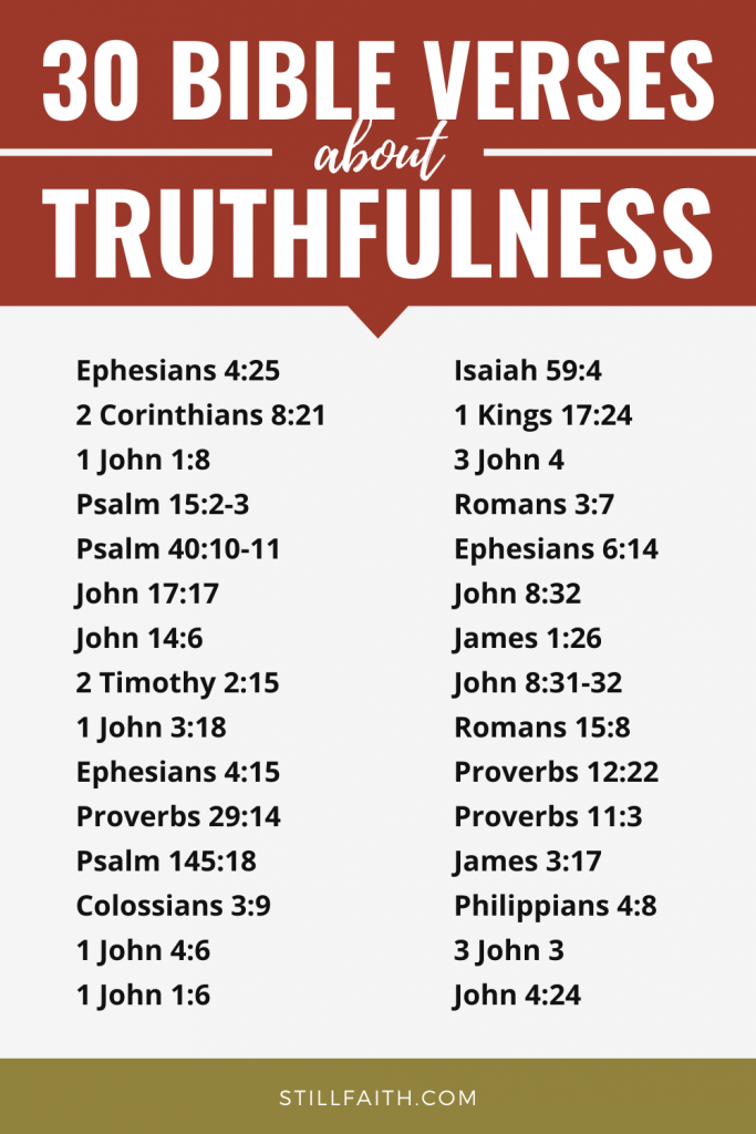 129 Bible Verses about Truthfulness