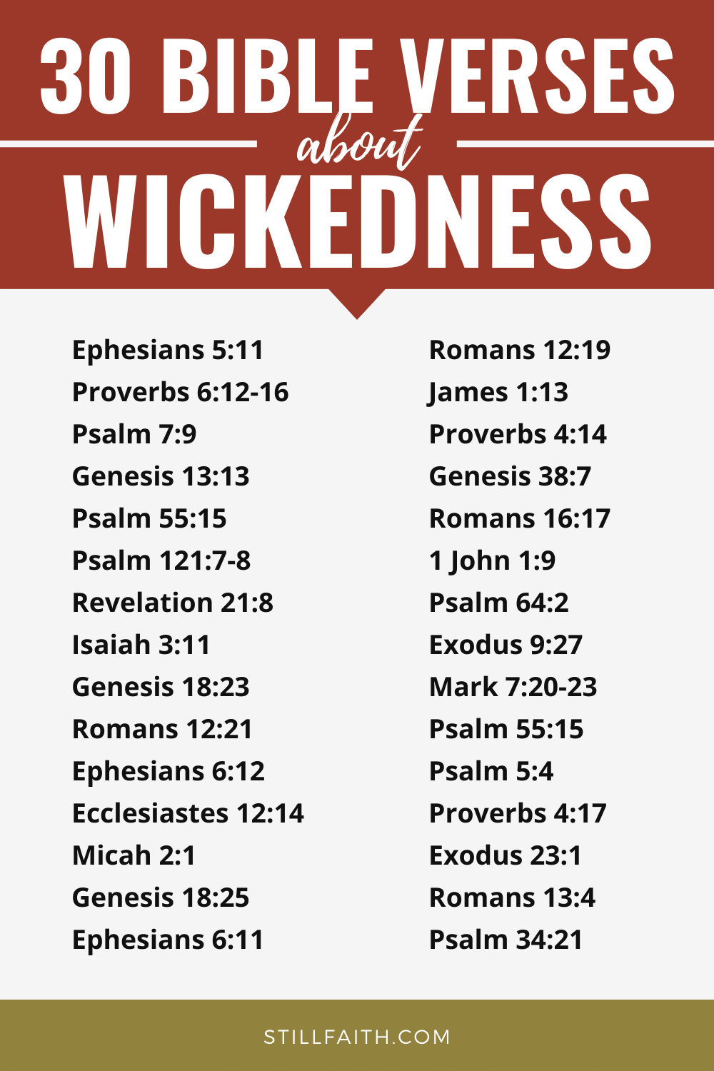 500 Bible Verses about Wickedness