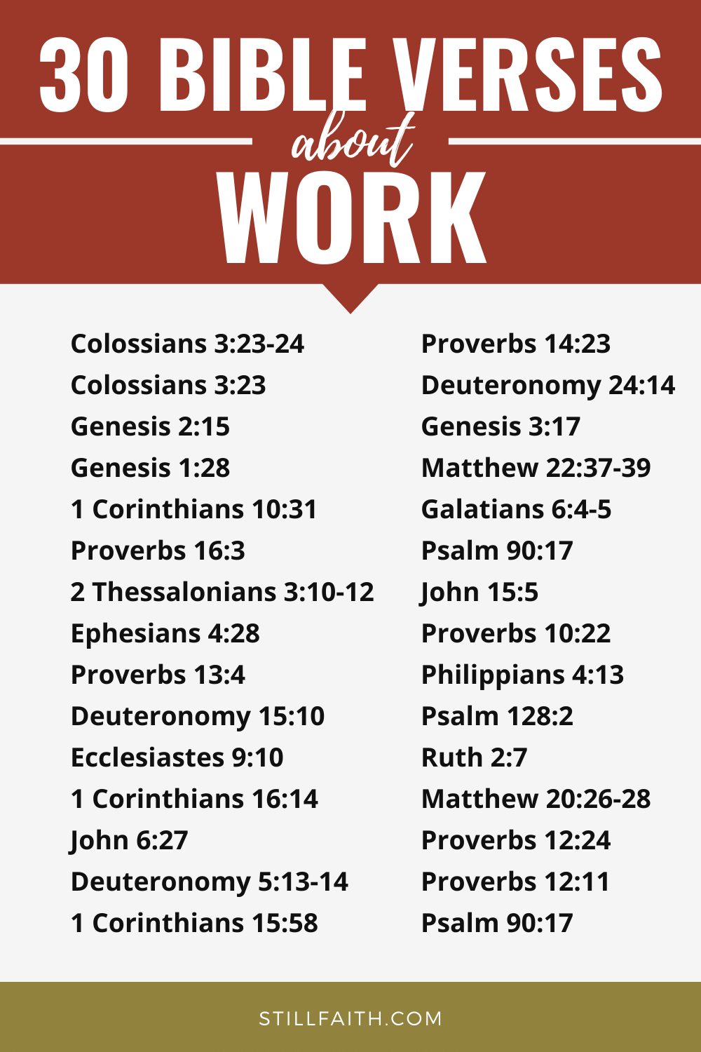 137 Bible Verses about Work