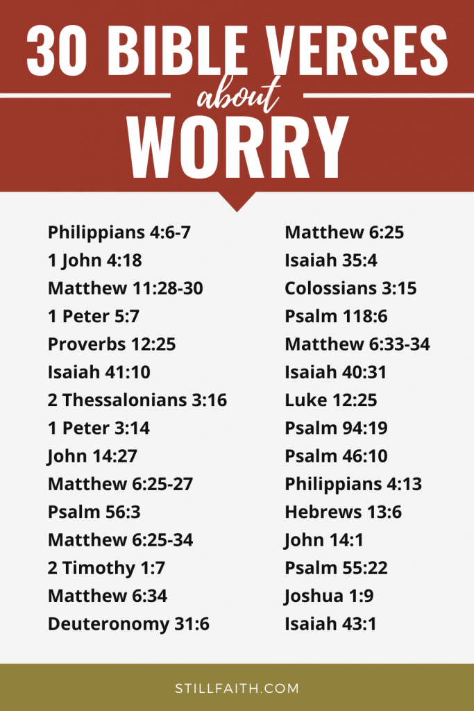 127 Bible Verses about Worry