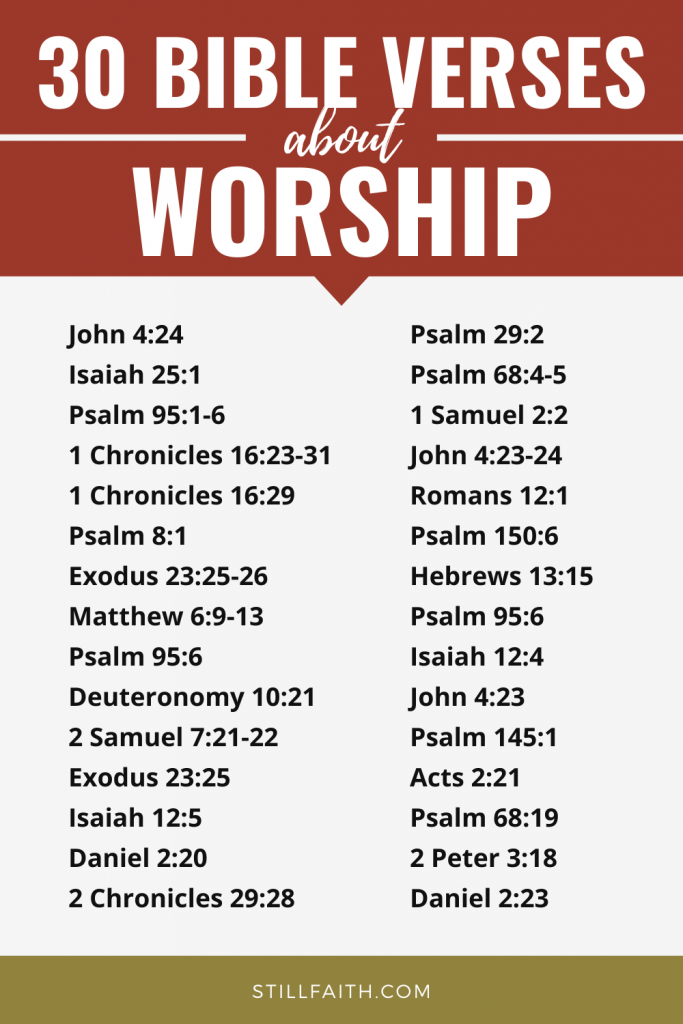 206 Bible Verses about Worship