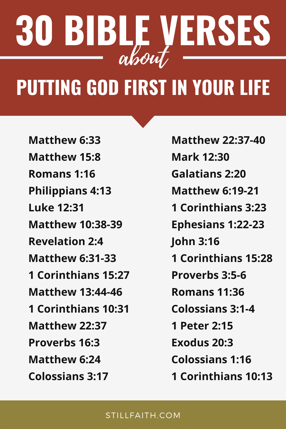 158 Bible Verses about Putting God First in Your Life
