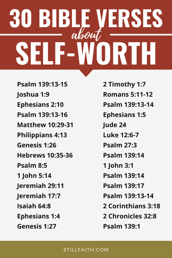 129 Bible Verses about Self-Worth