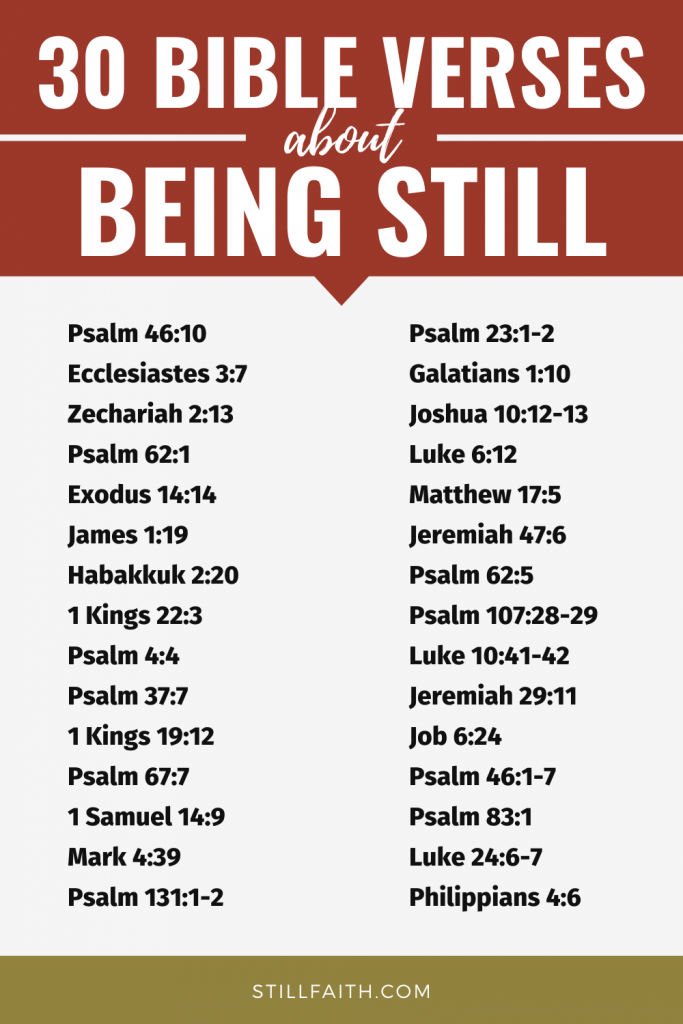 113 Bible Verses about Being Still