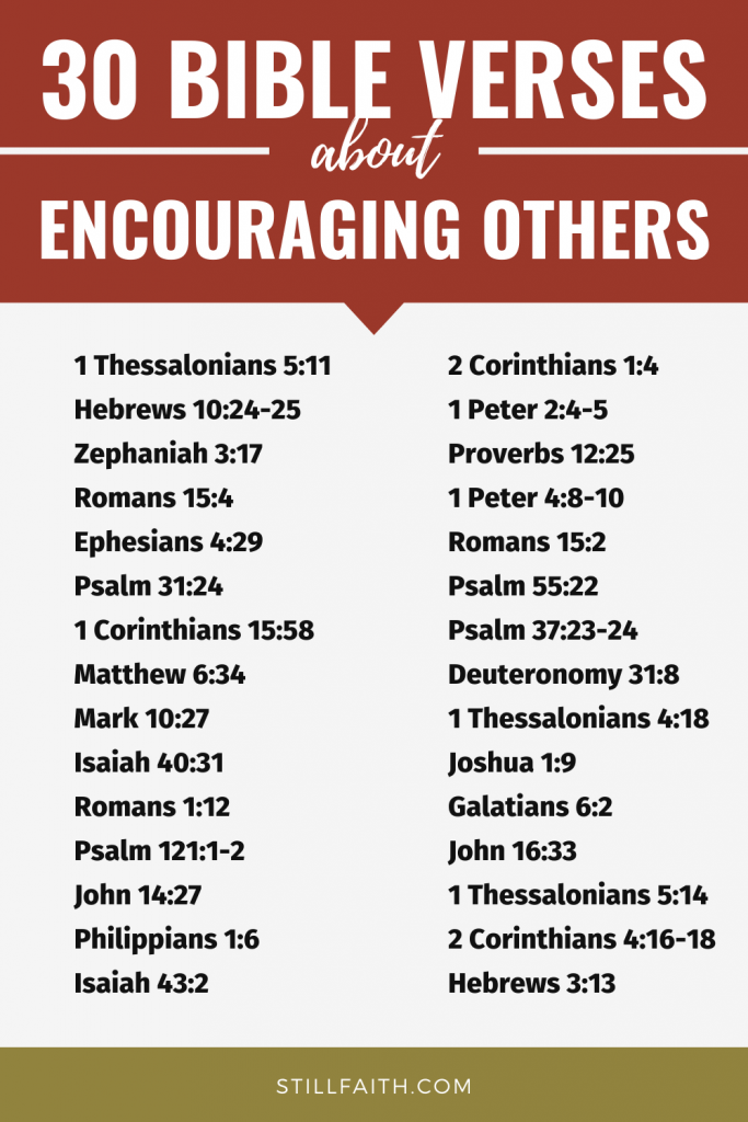 198 Bible Verses about Encouraging Others