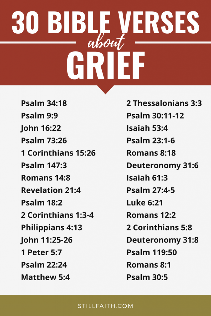 176 Bible Verses about Grief
