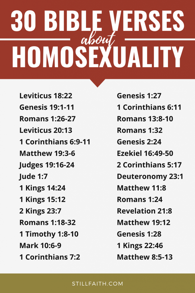 65 Bible Verses about Homosexuality