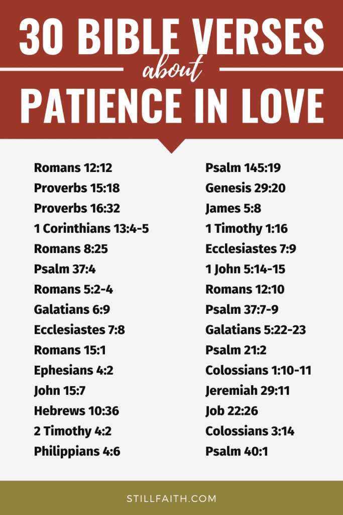 114 Bible Verses about Patience in Love