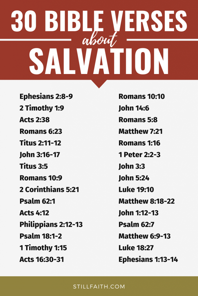 159 Bible Verses about Salvation