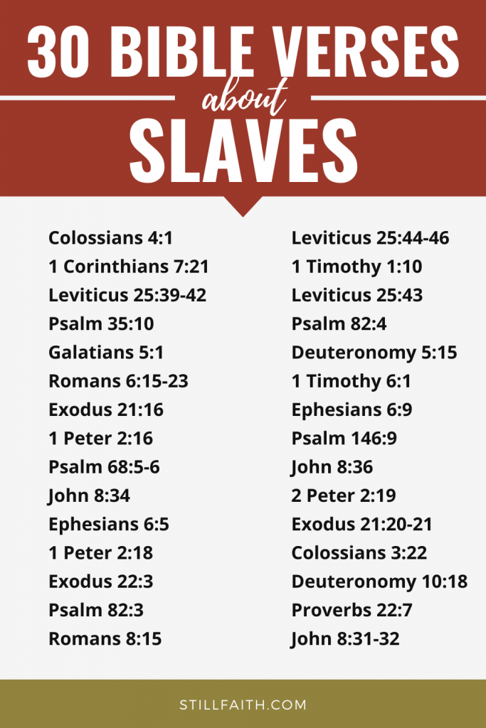 102 Bible Verses about Slaves
