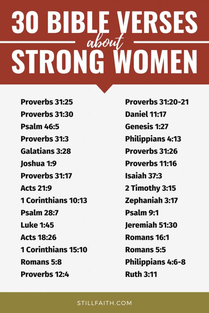 111 Bible Verses about Strong Women