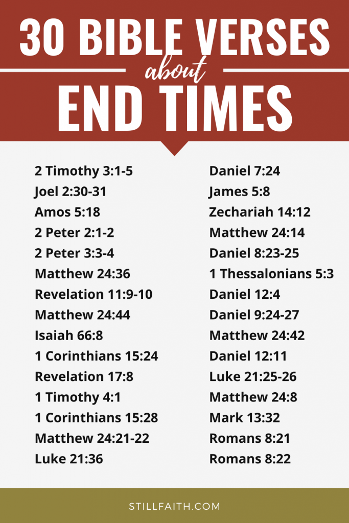159 Bible Verses about the End Times