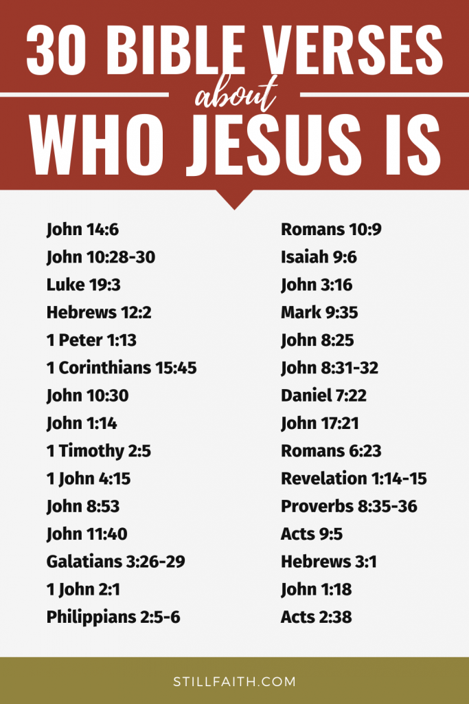 669 Bible Verses about Who Jesus Is
