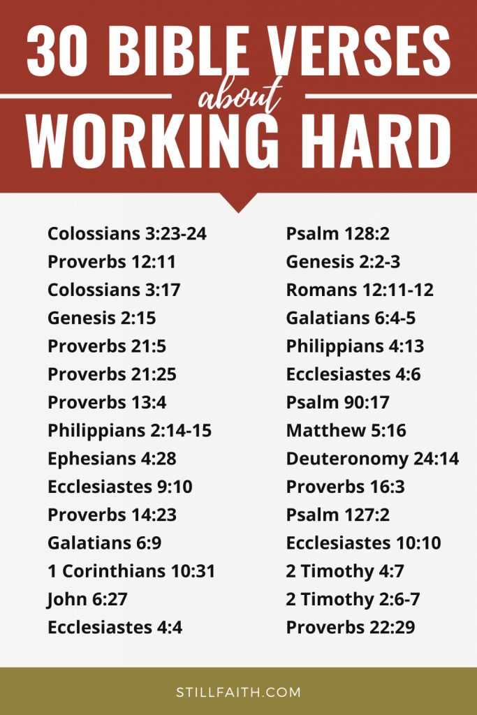 134 Bible Verses about Working Hard