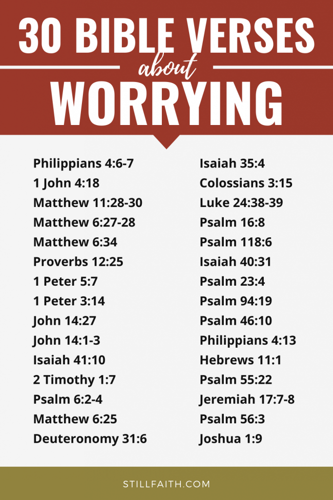 90 Bible Verses about Worrying