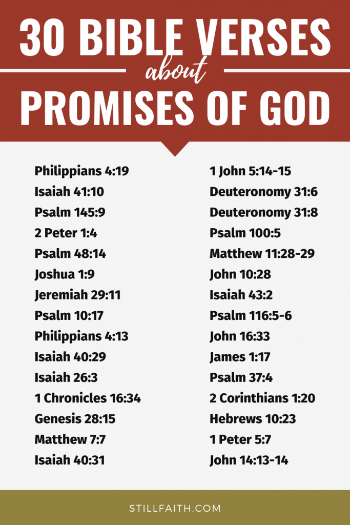 306 Bible Verses about Promises of God